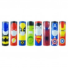 Superheroes series 18650 battery PVC wraps - heat shrink