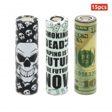 VampCase Rewrap Kit PVC Wraps Heat Shrink Tubes Sleeves With Top Insulators for 18650 Batteries Vaping Serie